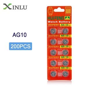 200 шт./лот AG10 1,5 V LR1130 SR1130 LR54 SR54 389 189 G10 Кнопочная батарея для монет AG10 lr1130 Кнопочная батарея для часов