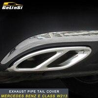 GELINSI Car Accessories Exhaust Pipe Tail Cover Trim For Mercedes Benz E Class W213 W205 GLC C A Class A180 A200 W176 2016 2017