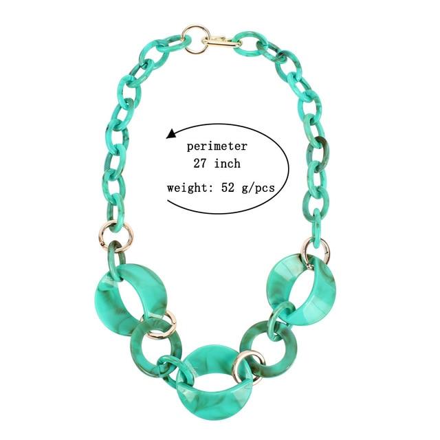 Женское Ожерелье из ацетатной смолы массивное акриловое геометрическое