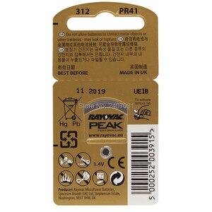 Image 3 - 60Pcs = 10 Card Gehoorapparaat Batterijen A312 312A ZA312 312 PR41 U