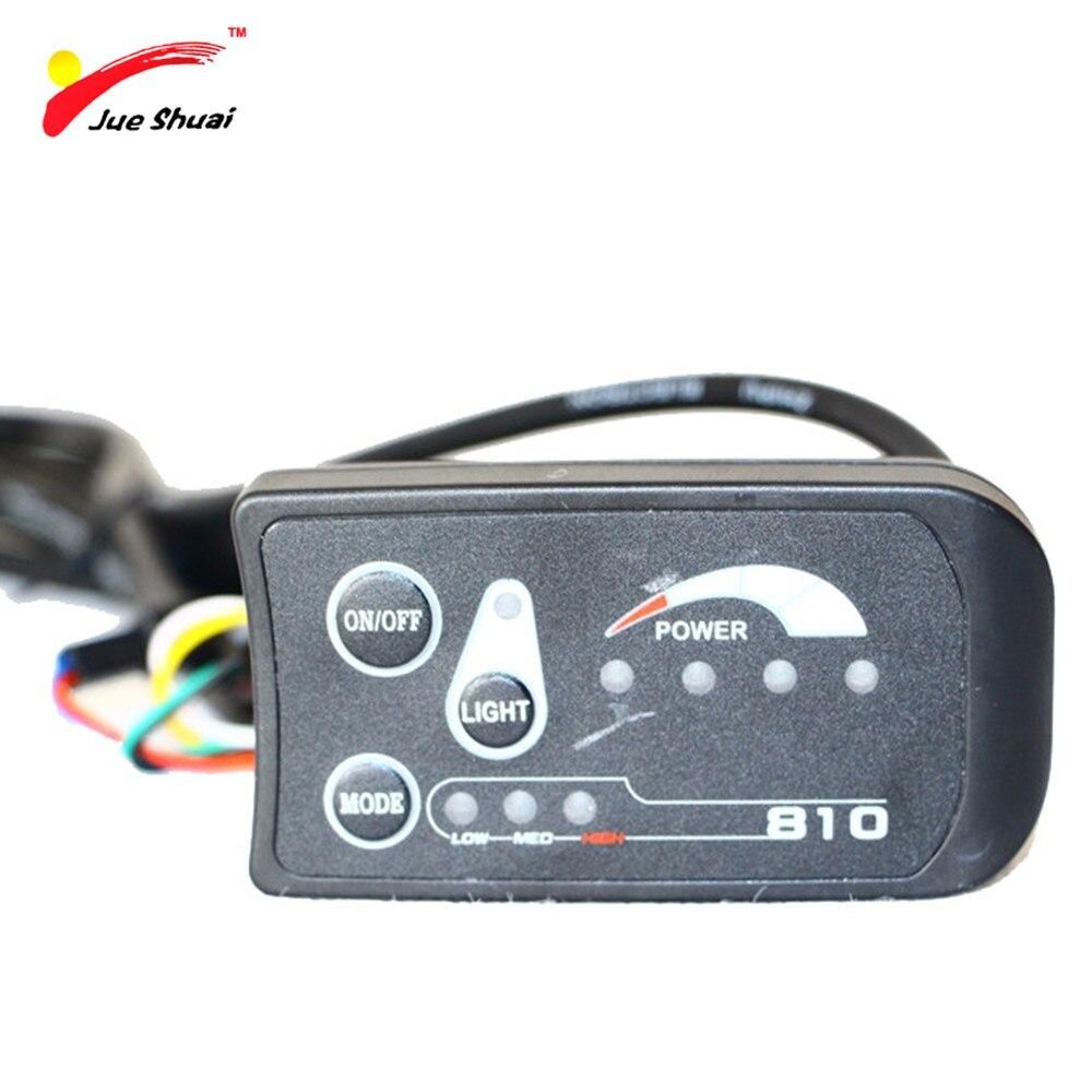 JS 36 v Bici Elettrica Della Bicicletta Controller di Display A LED Impermeabile Connettore 810 Pannello di Controllo Ciclismo Accessori Componenti