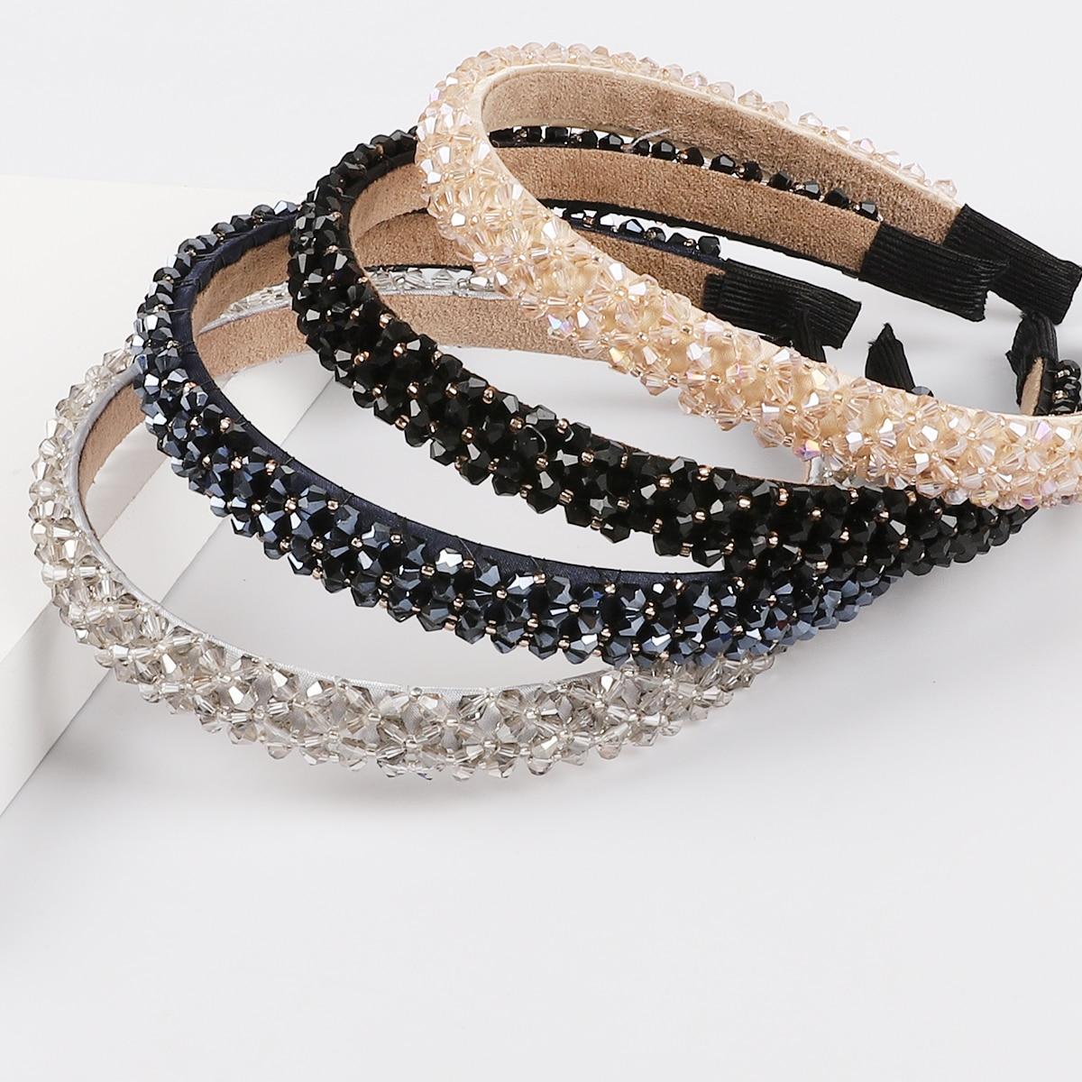 Women Girls Headwear Bling Rhinestone Crystal Headband Hairband Hair Accessories