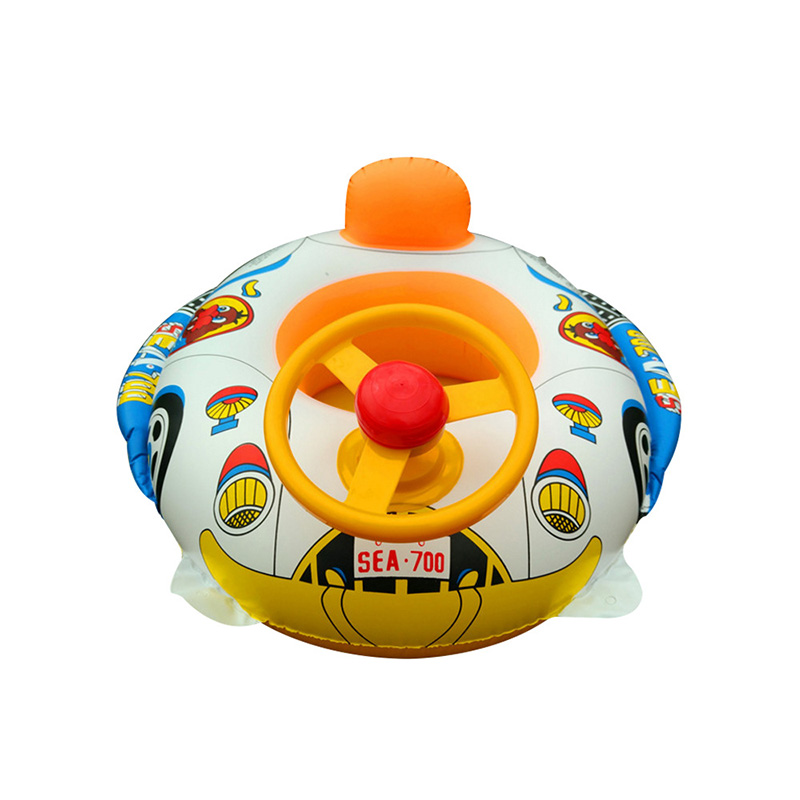 Inflatable Pool Float Baby Kids Swimming Ring With Car Steering Wheel Children Pool Bath Accessories