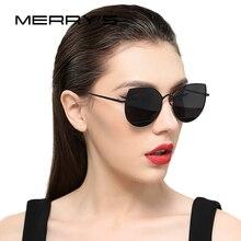 MERRYS 2019 חדש הגעה נשים קלאסי מותג מעצב עין חתול משקפי שמש מתכת מסגרת S8108