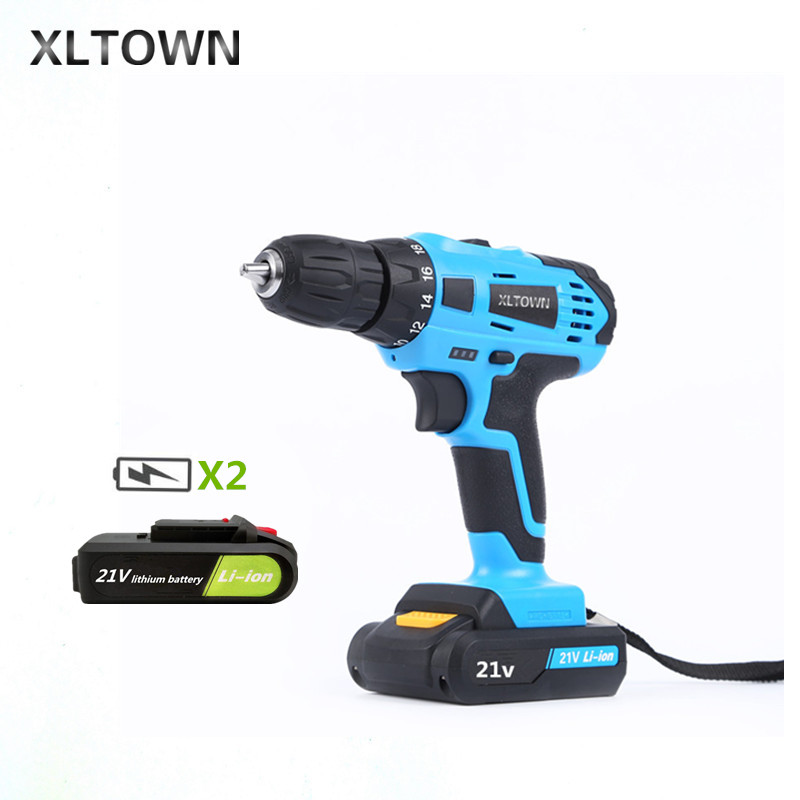 купить XLTOWN 21V hand Electric drill Rechargeable lithium battery electric screwdriver home Tool cordless Electric drill Power Tools недорого