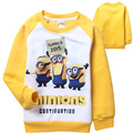 Despicable Me Minions boys childrens Thickening FLEECE Long sleeve spring winter t shirt top Jacket pullover boy kids coat top