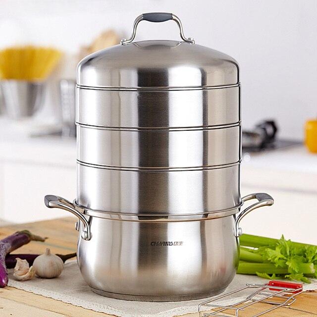 Genuine 304 stainless steel 26cm three layer multilayer steamer steamer drawer bottom pot cooker general in Germany