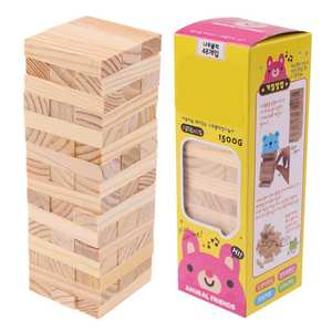 Assembled Wooden-Toys Building-Blocks Domino-Stacker-Extract Primary-Color Kids for Gift