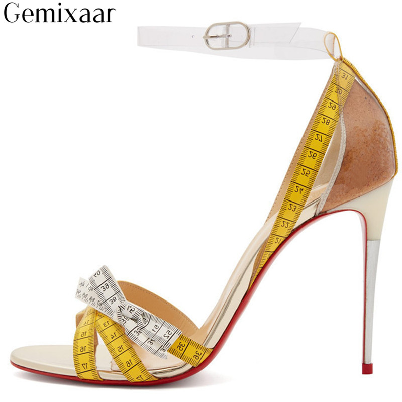 Print Tape Measure Narrow Band Decor Bow-knot Women Shoes Round Toe Sandalias Mujer Novelty Pattern Thin High Heel Sandals WomanPrint Tape Measure Narrow Band Decor Bow-knot Women Shoes Round Toe Sandalias Mujer Novelty Pattern Thin High Heel Sandals Woman
