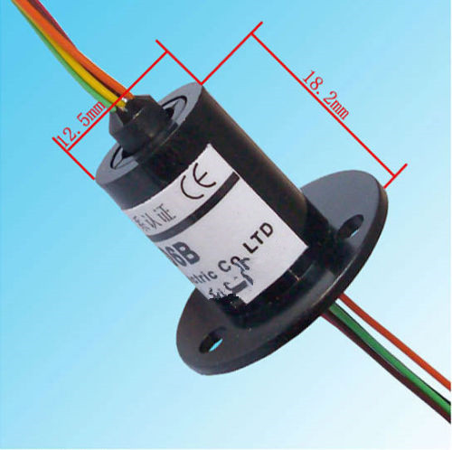 FREE Ship 12.5mm 300 RPM Miniature Slip Rings 6 Circuits 2A Capsule Slip Ring 6 Conductors rotary electrical collector