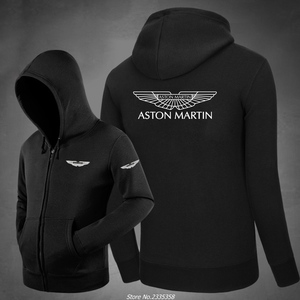 male Long Sleeve Winter autumn Casual Hoodie Aston Martin Sweatshirt zipper men Hooded jacket hoodies coats(China)