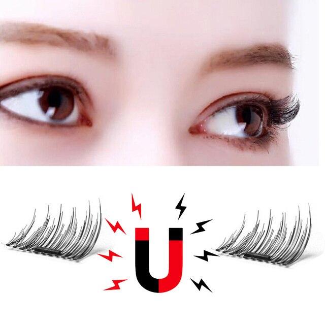 55a8c38805b 4pcs/set 3D Single Magnetic Eyelashes Natural Beauty No Glue Reusable Fake  Eye Lashes Extension Handmade Makeup Kit Maquiagem