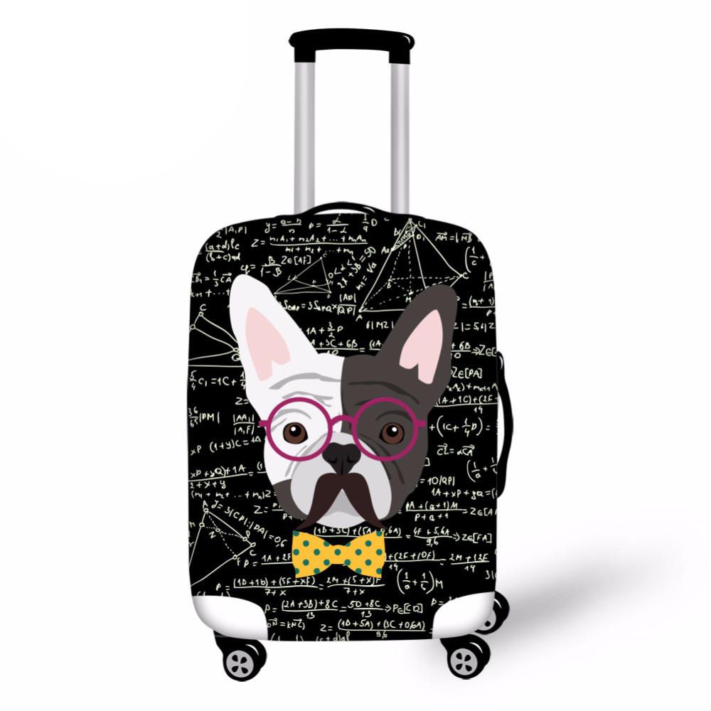 Noisydesigns Math Pud Dog Print Elastic Travel Accessories For 18-30 Inch Suitcase Luggage Protect Cover Fashion Suitcase Covers