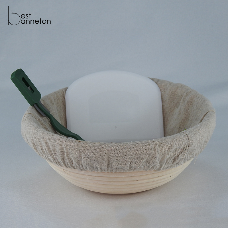 Best banneton Banneton Bread Proofing Basket Set Indonesia rattan 10 inch Round Brotform Bread Basket Dough Bowl