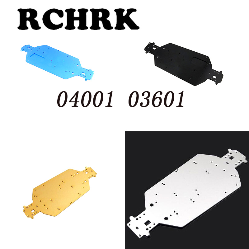 RC car 1/10HSP 04001 <font><b>03601</b></font> Aluminum Alloy Metal Chassis Upgrade Parts For Buggy Monster Bigfoot Truck 94107 94170 94118 94111 image
