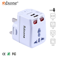 Rdxone Universal Travel Adapter AC Power adapter wall Electric Plugs Sockets Converter for Cell phone/Laptop with Spare Fuse