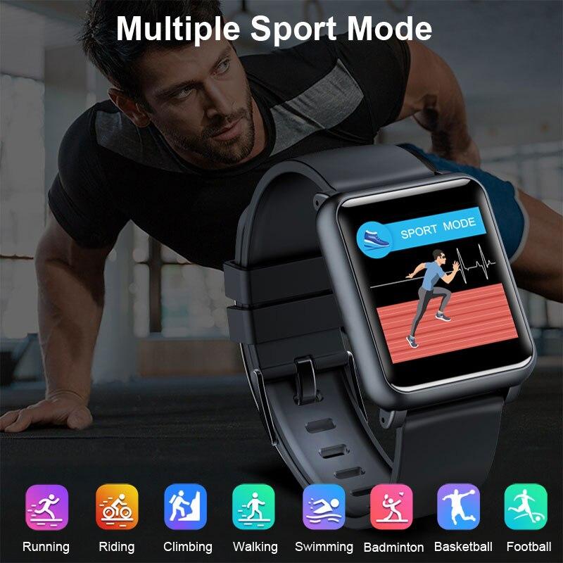 2019 nuevo Monitor de ritmo cardíaco reloj inteligente ECG PPG Plaza Smartwatch BOWANG H9 de atención de la salud índice impermeable de la presión de la sangre de los hombres w24