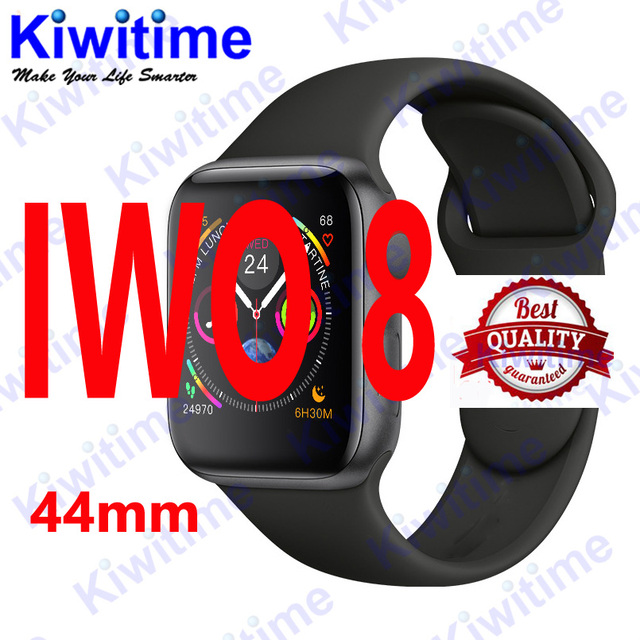 cc3b90232f1 KIWITIME Bluetooth Smart Watch IWO 8 1 1 SmartWatch 44mm Case for Apple iOS  Android Heart Rate ECG Pedometer IWO 6 Upgrade