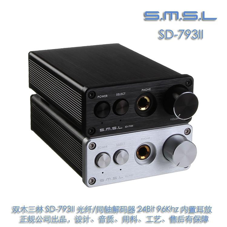 SMSL SD-793II DIR9001 + PCM1793 + OPA2134 Coaxial/optique MINI DAC + ampli casque couleur noire