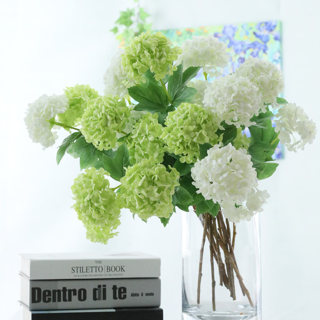 2heads artificial hydrangea ball flowers white snowball flores home 2heads artificial hydrangea ball flowers white snowball flores home party wedding decor christmas fall decorations fake mightylinksfo