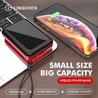 LINGCHEN Mini Wireless Fast Charging Power Bank PD 3.0 LED For iPhone Xiaomi Mi Huawei Fast Wireless External Battery poverbank