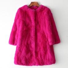 Natural Rabbit Fur Coat for Women