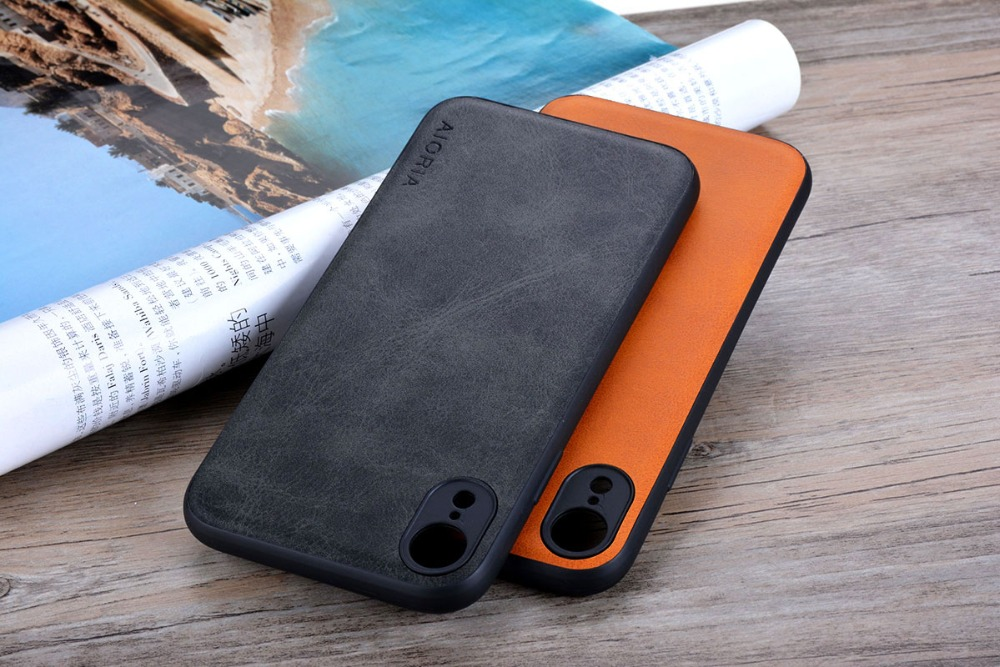 Case for iPhone XR X XS Max Luxury funda Vintage leather Skin cover hoesje for iphone xr x xs max phone case coque capa fashion