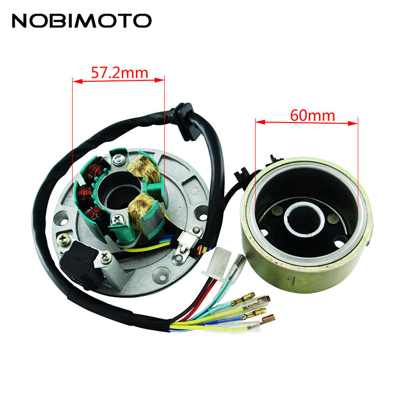 Off Road Motorcycle Accessories High Speed Motor Kits Stator Rotor Magneto Coil For ZongShen 155CC Oil