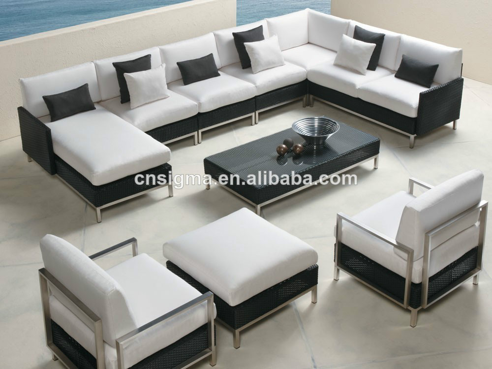 Resin Wicker patio furniture set-in Garden Sofas from Furniture on ...