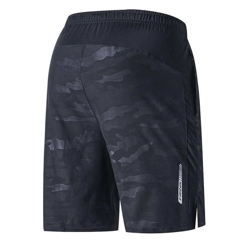 FANNAI short de course hommes entraînement Marathon séchage rapide Fitness impression Sport Shorts avec poche Plus short de course survêtement