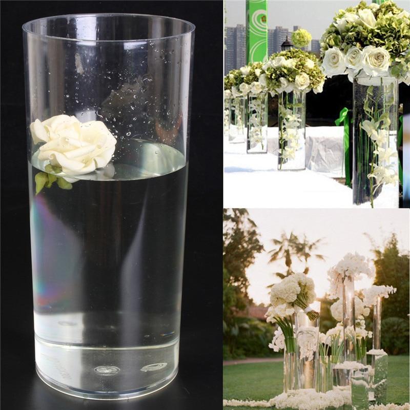 Hot Sale Acrylic Cylinder Clear Vase Round Plastic Wedding Table