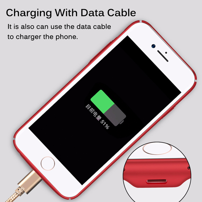 Image 5 - Qi Wireless Charger Receiver Case For iPhone 7 7 Plus 2 In 1 Wireless Charging & Cable Charging Cover For iPhone 6 6s Plus Cases-in Fitted Cases from Cellphones & Telecommunications
