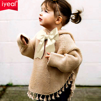 IYEAL New Toddler Baby Girls Sweater Coat Cute Hooded Cloak Sweaters Children Baby Jacket Outwear Lovely Infant Kids Clothes
