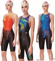 Yingfa Professional Competition Swimsuit Women Girls One Piece Swimwear Kids Training Swimwear Racing Knee Swimsuit