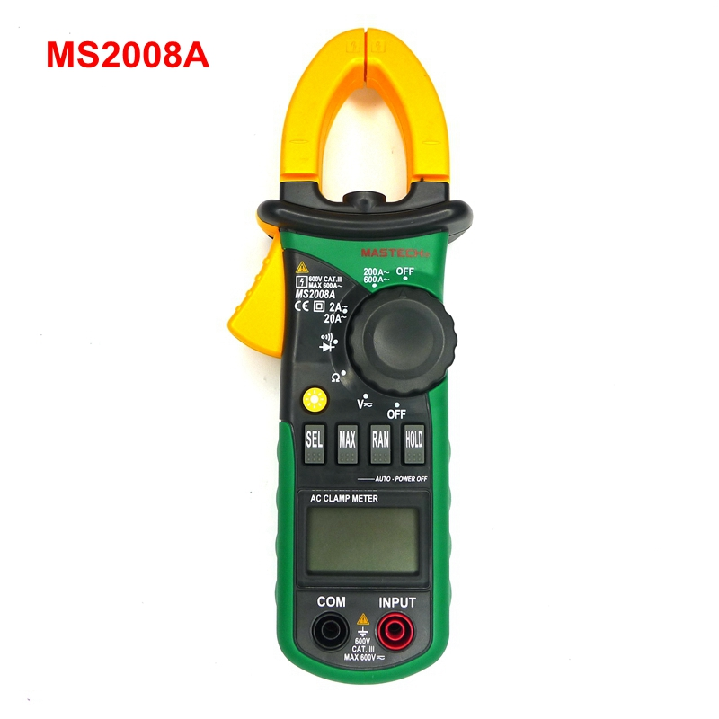 MASTECH MS2008A Digital Multimeter Auto/Manual Range AC/DC Voltmeter Ammeter Thermometer LCD Backlight Work Light  цены
