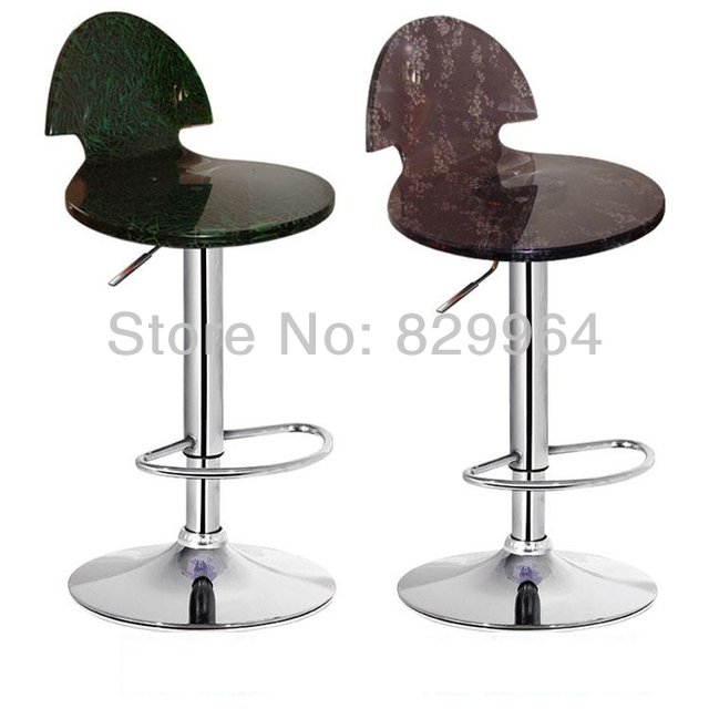 Crystal color bright bar chair, rotary elevated metal chairs, metal chairs, bar furniture, living room furniture