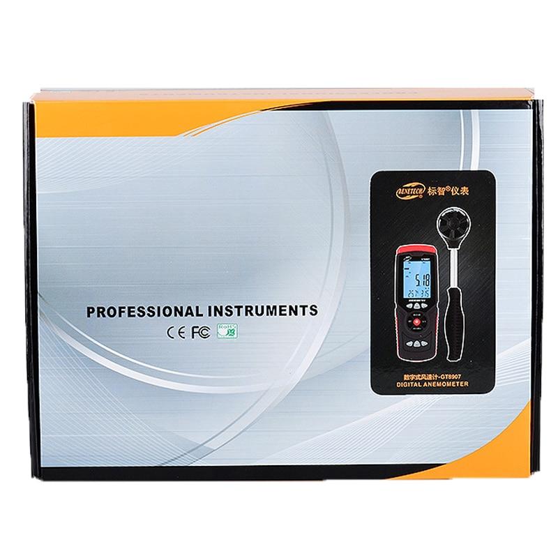 GT8907 Instruments de mesure de vitesse anémomètre Lcd numérique compteur de vitesse du vent capteur Portable 0.1-45 m/s anémomètre compteur de vitesse du vent - 6