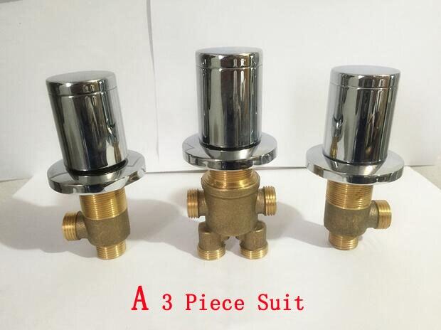 Медь водоотделитель Ванна клапаны кран аксессуары, 2/4 Интерфейс душевая смесительный клапан, холодной и горячей воды главный выключатель