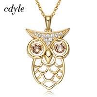 Cdyle Crystals From Swarovski Pendant Women Necklace Australian Rhinestone Owl Shaped Trendy Luxury Gold Color Bijoux