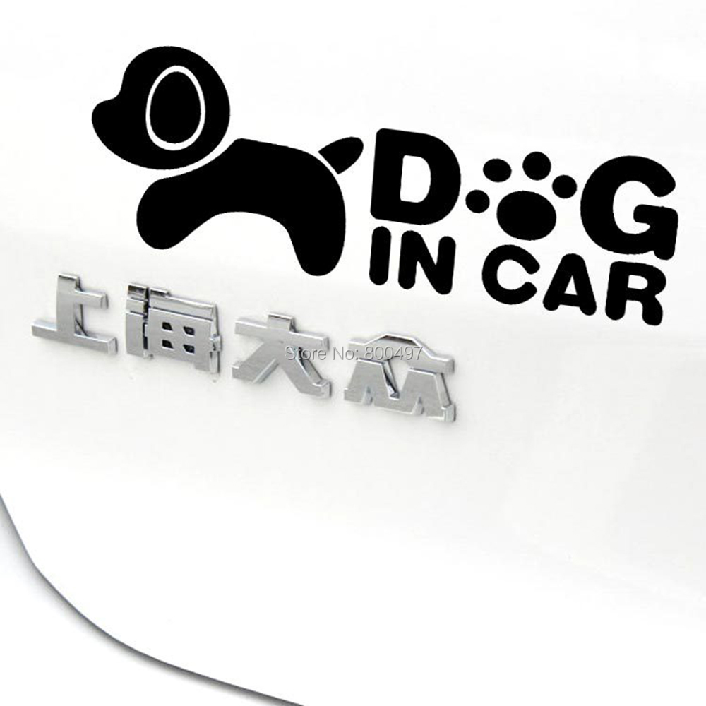 Car sticker design - Newest Design Funny Car Sticker Dog In Car Decal For Toyota Chevrolet Volkswagen Tesla Honda Hyundai