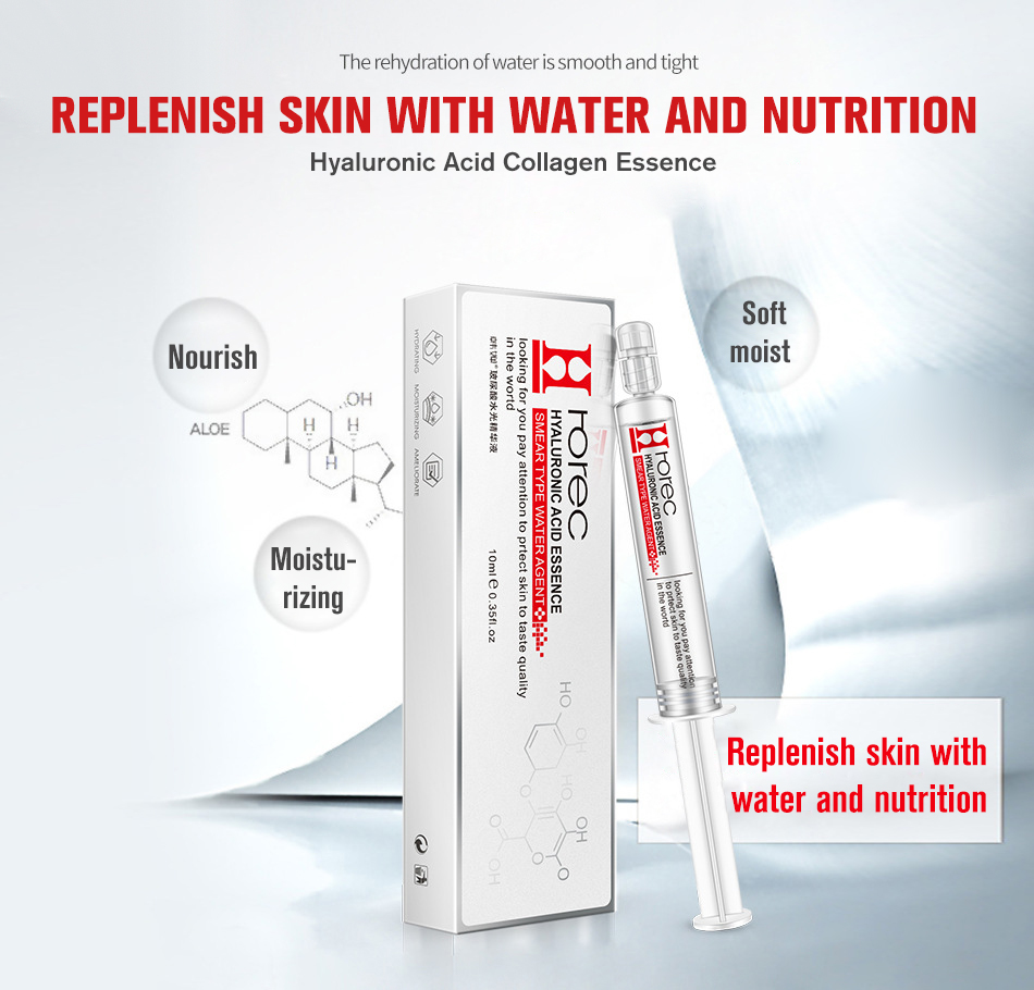 hight resolution of rorec hyaluronic acid injection face serum liquid tights anti wrinkle anti aging collagen facail essence moisturizing whitening