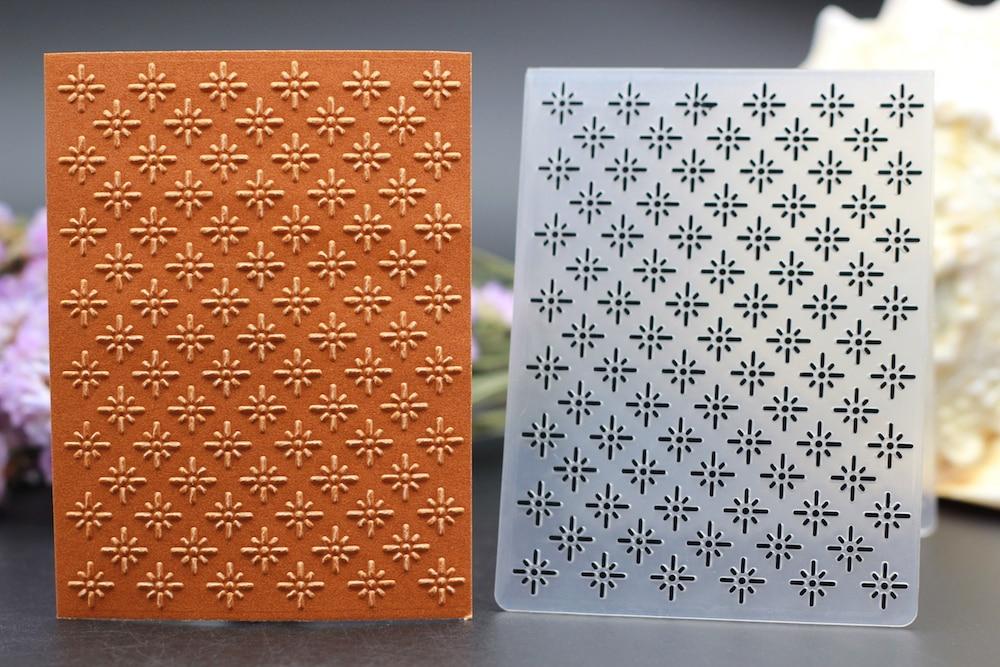 Plastic embossing folder diamond geometric figure dots for Plastic grid sheets crafts