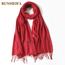 2018 classic spring summer scarves for women thin shawls and wraps fashion solid female hijab stoles pashmina cashmere foulard cheap W18001 Cashmere Acrylic Scarf Shawl 175cm RUNMEIFA Adult 36 colors 0 125kg piece Spring summer autumn winter scarf shawl hijab