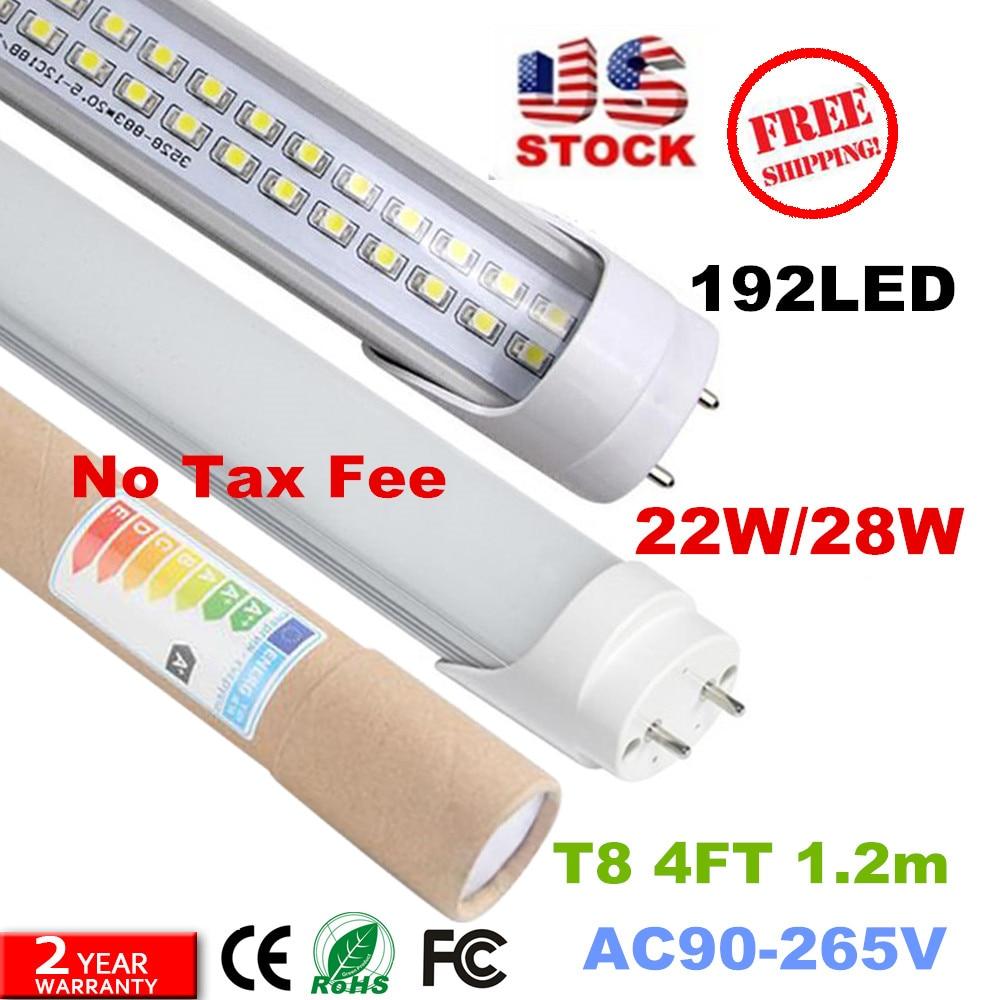 6000K T8 Fluorescent LED Tubes Single End Power G13 4ft Replace Led light 25//50P