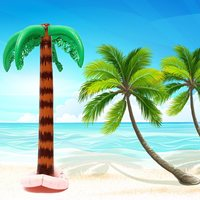 Large Coconut Tree Inflatable Hawaiian Tree Funny Jungle Toy Summer Beach Birthday Party Supplies Stage Props