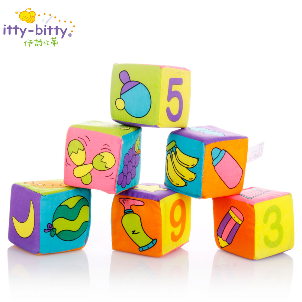 Toys Block 6Pcs/set Baby Soft Play Cubes Rattles Toy Colorful Animals Plush Cloth Building Blocks Toy Early Educational Toy 6pcs set infant baby cloth rattle toy building blocks kids educational toy gift kids soft cube cloth magical bell rattles blocks