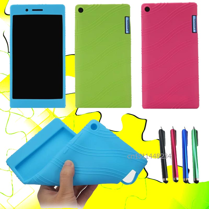New Ultra Slim fashion Silicone case Funda Cover For Lenovo Tab3 Tab 3 7 730 730X TB3-730F TB3-730M 7 Tablet case cover+stylus slim fit stand feature folio flip pu hybrid print case for lenovo tab 3 730f 730m 730x 7 inch