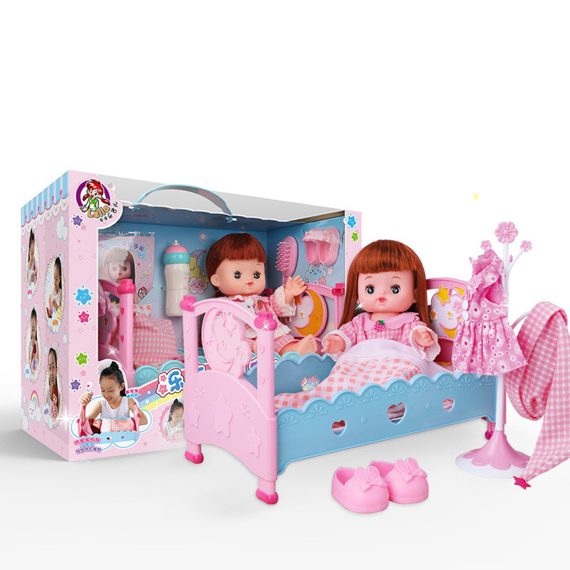 doll houses toys stroller kawaii puzzle furniture mini children diy play