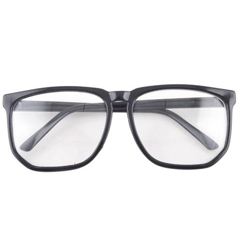 Hombres Mujeres retro grande cuadrado grande lente transparente ...