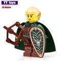 Sola venta xh434 elf hunter comandante romano 71001 mini muñecas de caballeros medievales roma buildingblocks ladrillos niños diy juguetes x0137